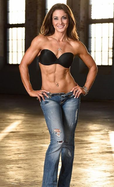 Fit body women in 40 years old