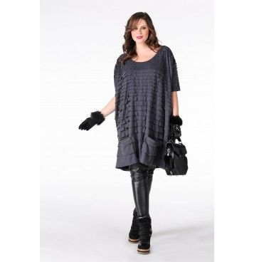 Shirt extra wide pocket LULU - Yoek Plus size fashion Grote maten mode winter 2013/2014