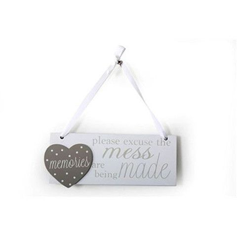 Excuse the Mess Wooden Sign - Amour Decor