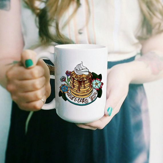 I Love You And I Like You // Parks and Recreation inspired coffee mug with quote from Leslie Knope and Ben Wyatt - perfect for Valentine's Day! Hooray for Waffles, now TREAT YO SELF!