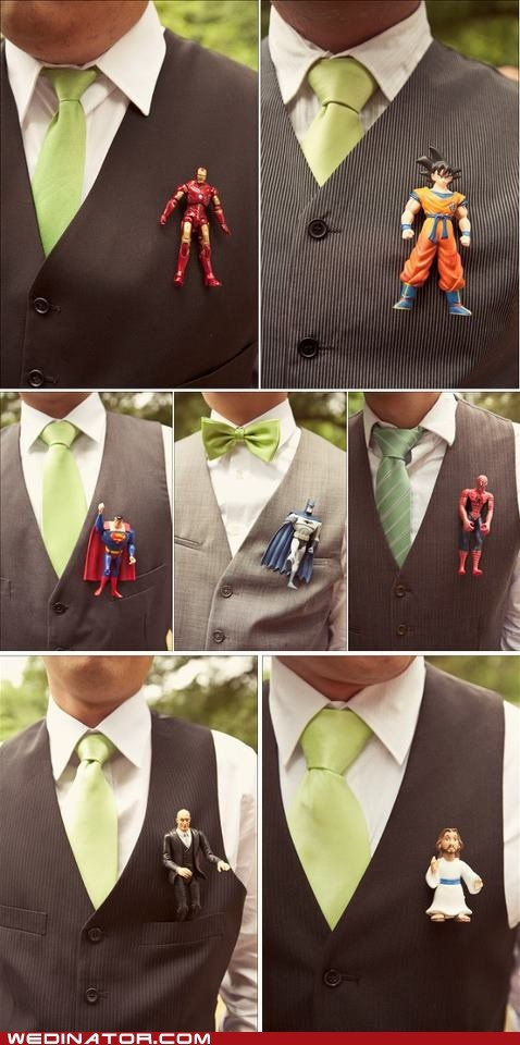 Best Boutonnières...EVER! Don't known if I would do this but pretty funny