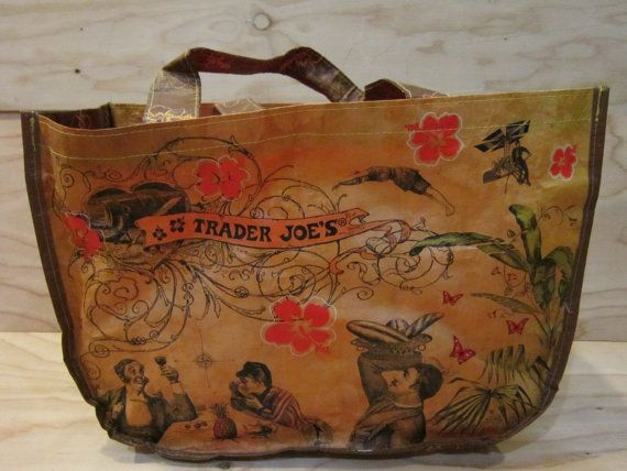 Vintage Trader Joe's Reusable Tote Shopping Bag