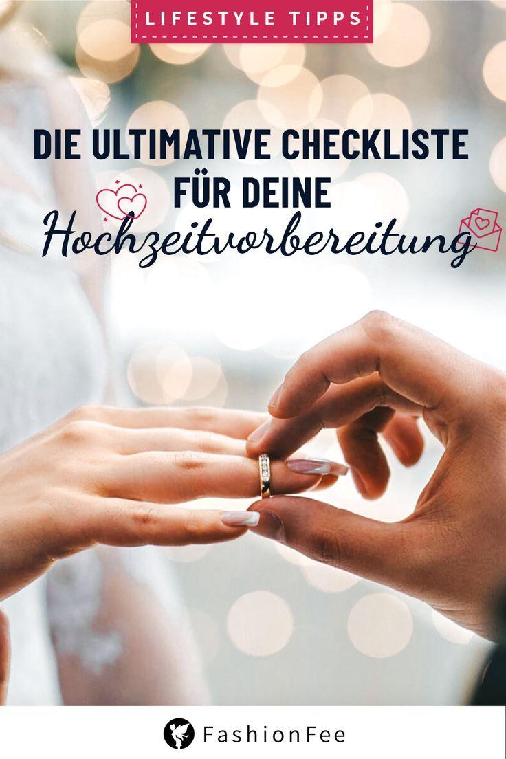 Hochzeits Checkliste: Hochzeit planen ohne Stress!