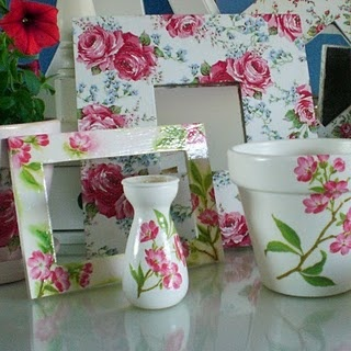 Decoupage using napkins