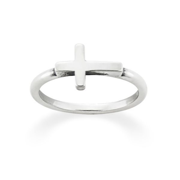 Horizon Cross Ring in sterling silver (also available in 14k gold) #JamesAvery