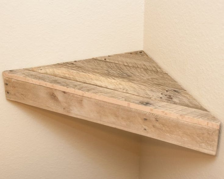 Wall shelf floating shelf book shelf bathroom shelf corner for How to make wood shelves on wall