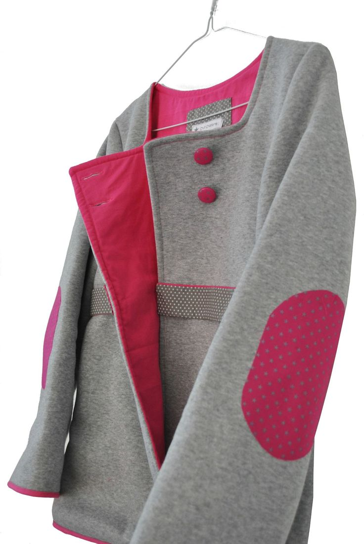 veste molleton gris et rose