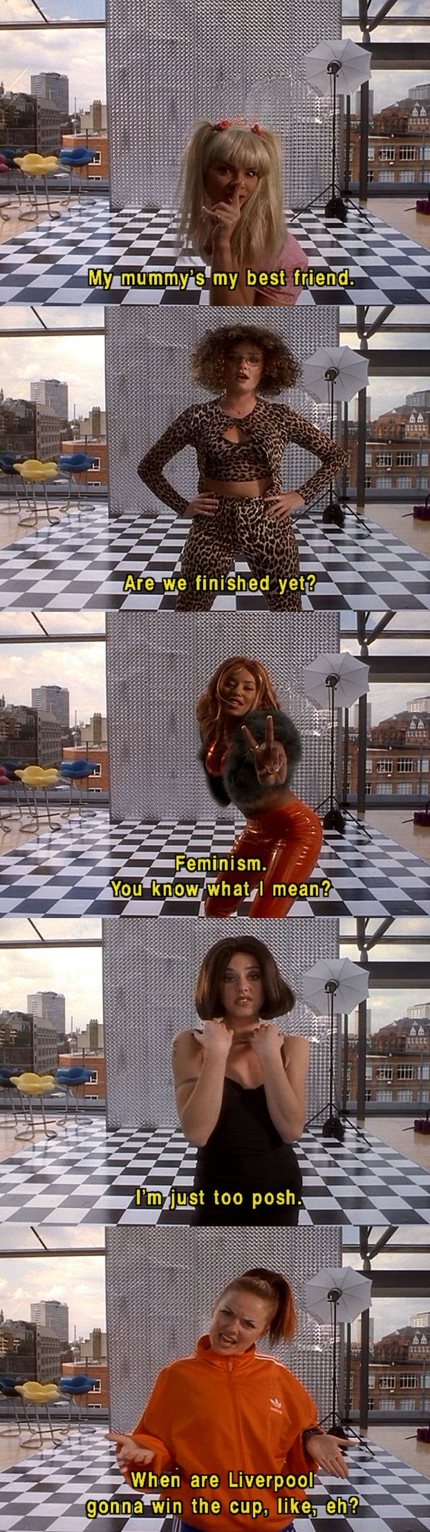 Spice Girls, Spice World, film, music, 1990s, 90s, 1997, parody, comedy