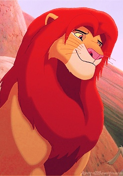 day 6: favorite animal... simba. The lion king has always been a favorite of mine, and he's such a complex character. I like the characters that you grow up with.