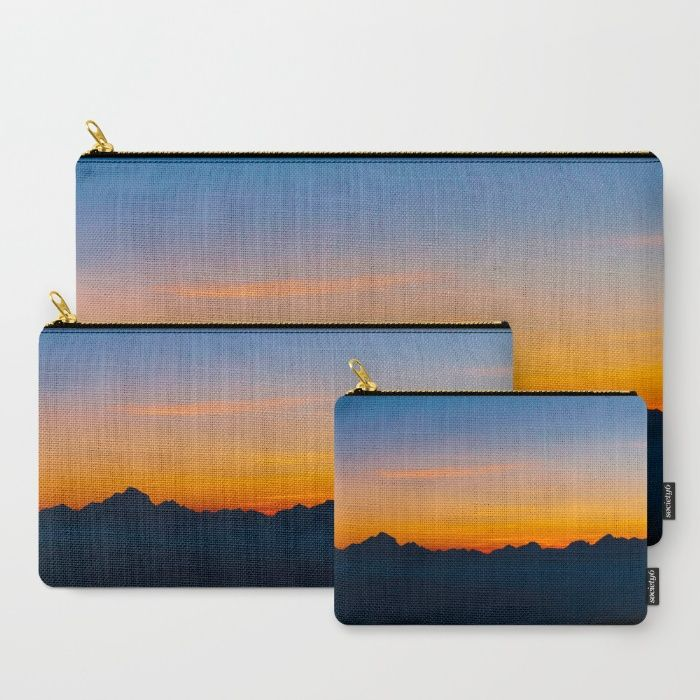 Wispy Mountain Glow Carry-All Pouch by Mixed Imagery | Society6