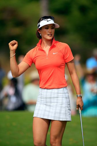 Michelle Wie, looking hotter than ever while winning the LPGA LOTTE Championship, April 19, 2014.  Whew!