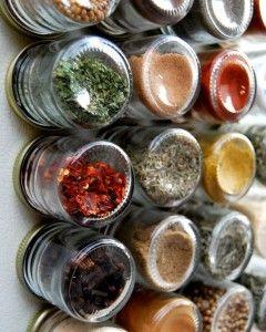 Kruidenrek in de keuken met magneetverf