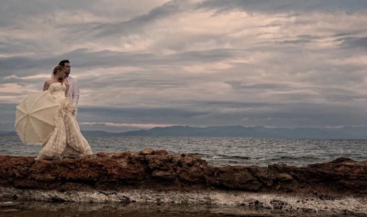 Wedding Dress by the beach!  www.facebook.com/aggelikikatsimani