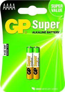 2 stuks GP Super Alkaline AAAA Piccolo in blisterverpakking. Prijs vanaf € 3,99!