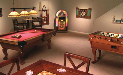 simple basement game room | Basement Finishing – Photo Gallery