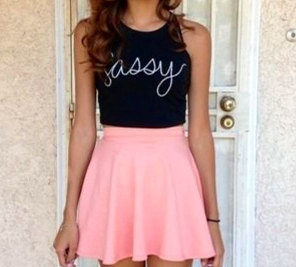 I really like the color of this skater skirt. I just wish I would have shirts…
