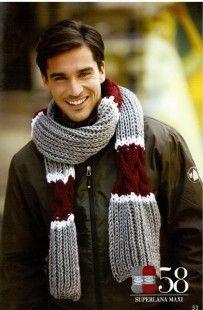 Красивый шарф спицами
