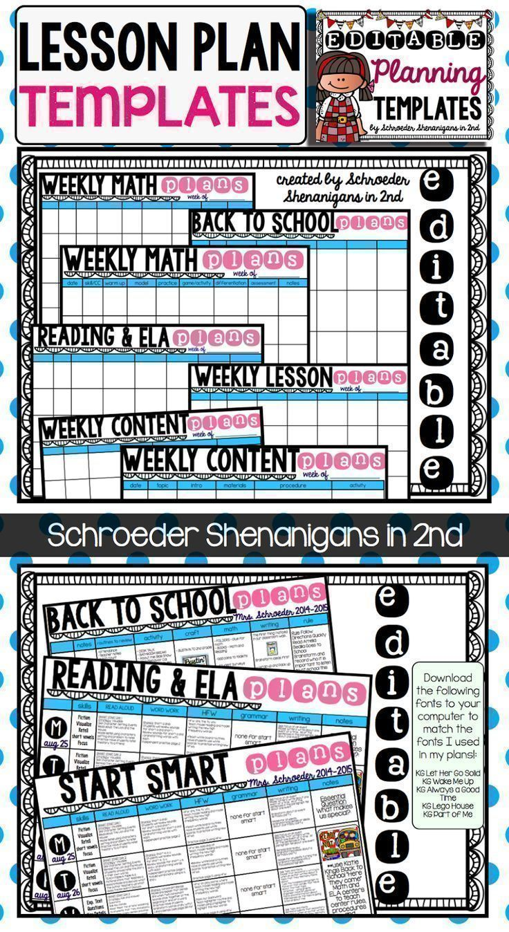 Editable Planning Template Best Of Back To School Starting The