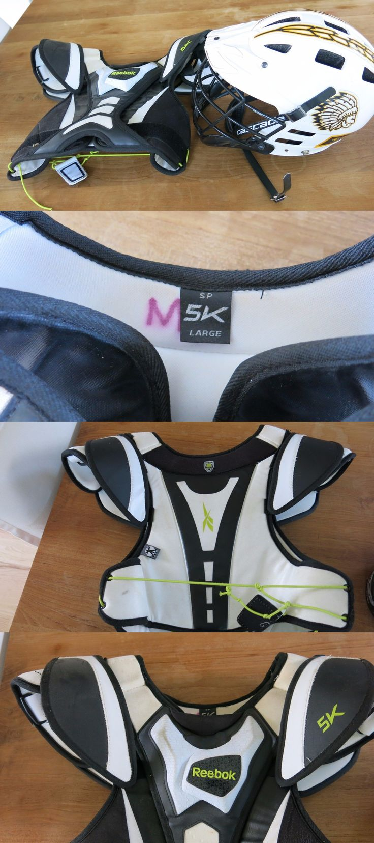 Protective Gear 62164: Boys Kids White Cascade Lacrosse Helmet Small Medium Reebok Shoulder Pads -> BUY IT NOW ONLY: $39.99 on eBay!