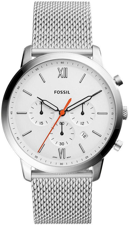 Fossil Men's Chronograph Neutra Stainless Steel Mesh Bracelet Watch 44mm