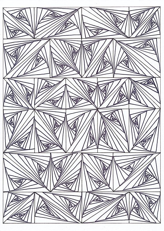 psychedelic coloring page for adults