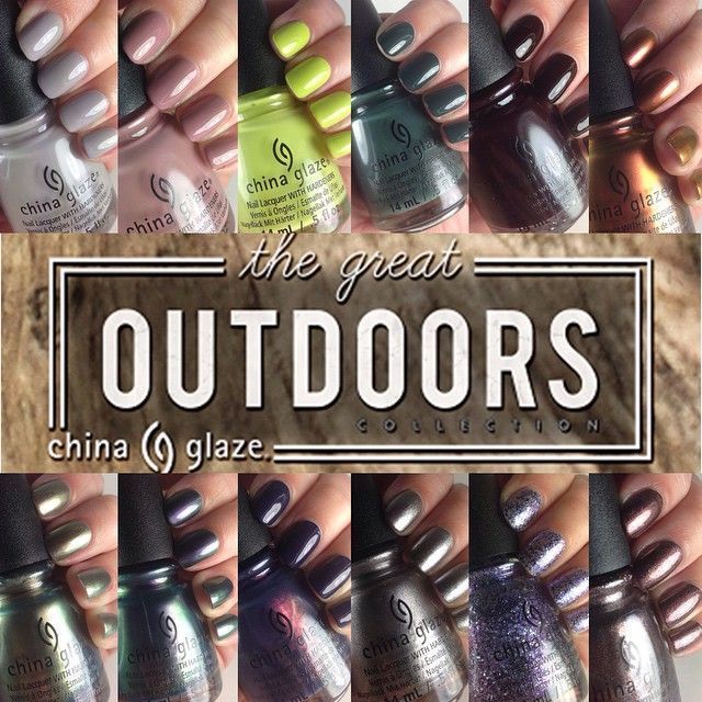 CHINA GLAZE - THE GREAT OUTDOOR - Nouvelle collection pour l'automne (vernis à ongles avec durcisseur intégré)