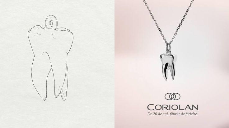 Cea mai nouă creație Coriolan este un colier realizat la comandă, în forma unui dinte, din aur alb de 14K. Dacă aveți în minte cum arată bijuteria perfectă pentru persoana dragă, vă așteptăm ideile și întrebările la office@coriolan.ro. La #Coriolan, creăm bijuteriile împreună cu tine!  #MadeinRomania #BijuteriilaComanda #CustomJewelry