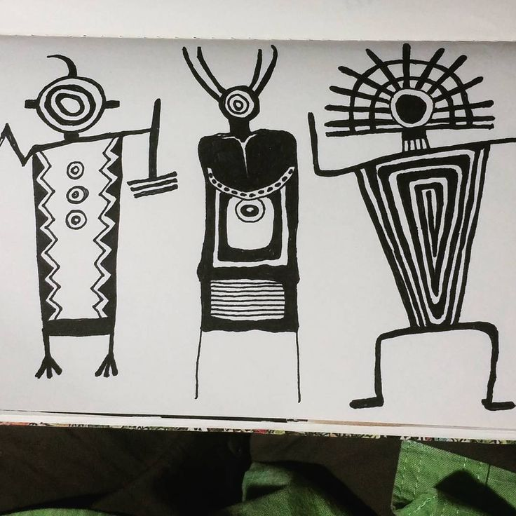 Nite figures.#petroglyphs #100dayproject #drawriotdaily #draw2017 #the100dayproject #southwestern