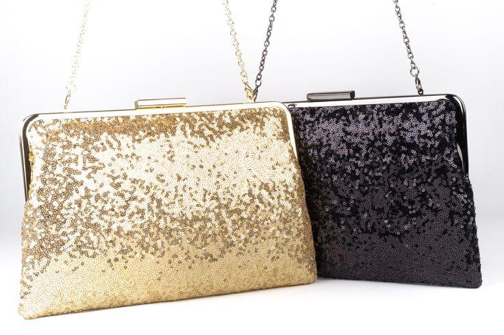Diana Ferrari litter bags - Gold and Black Sequin