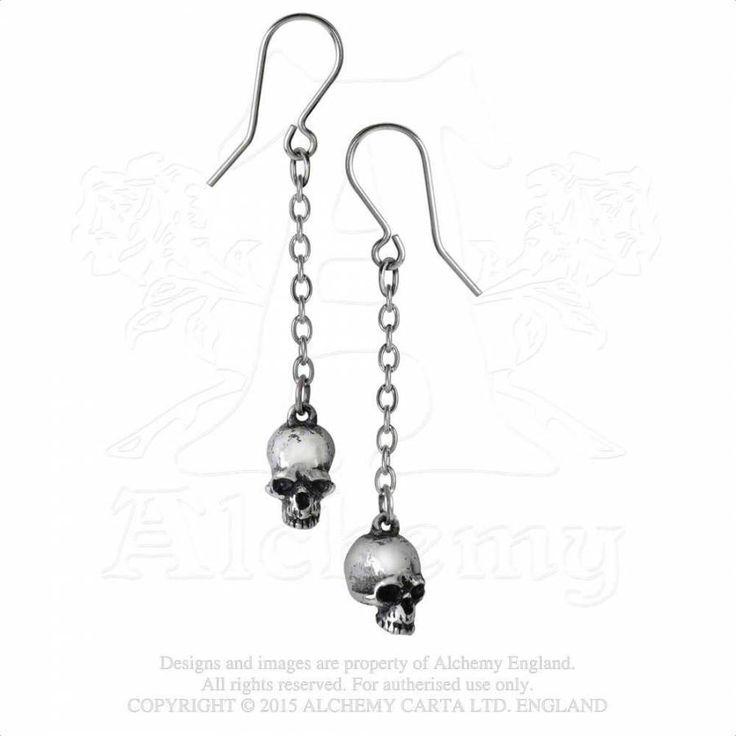 """ALCHEMY GOTHIC """"Deadskull"""" earring"""
