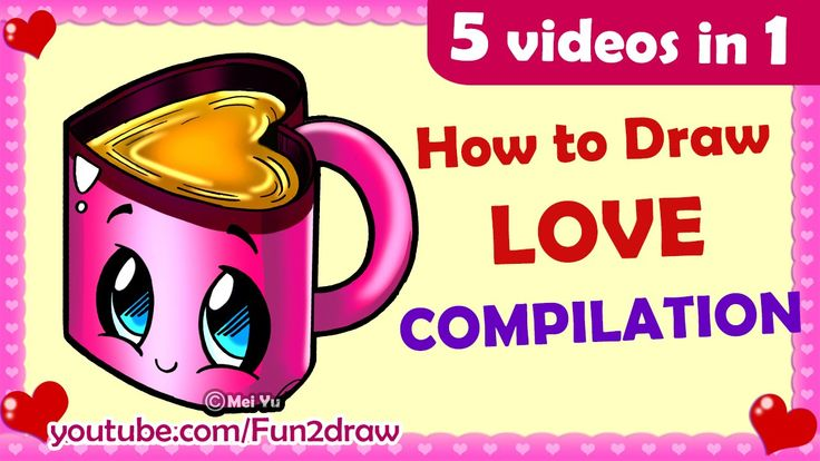 How to Draw Easy, Cute, Love, Cartoons for Mother's Day, Father's Day