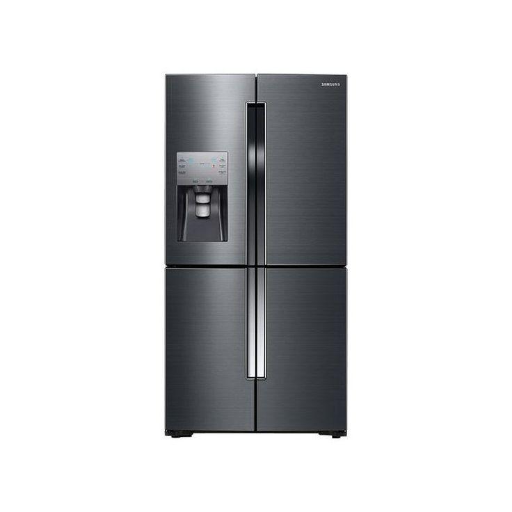 Samsung RF23J9011S 36 Inch Wide 22.5 Cu. Ft. Counter Depth 4-Door Refrigerator w Black Stainless Steel Refrigerators French Door Fridge