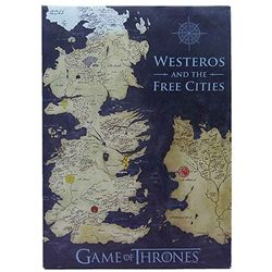Game of Thrones colored map canvas banner