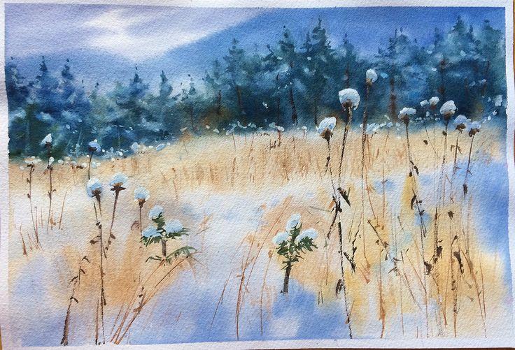 Watercolor forest. Anna Zagornaia art.