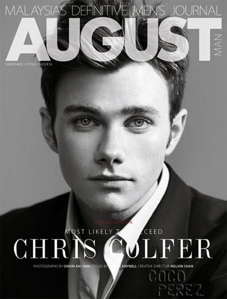 Chris Colfer covered August Man magazine.