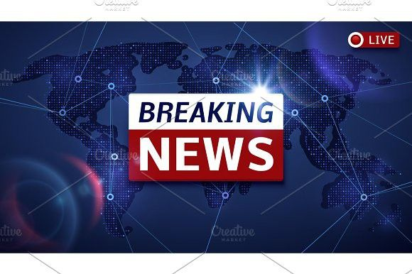 Breaking world news live vector tv background and internet video stream concept. Business Infographic