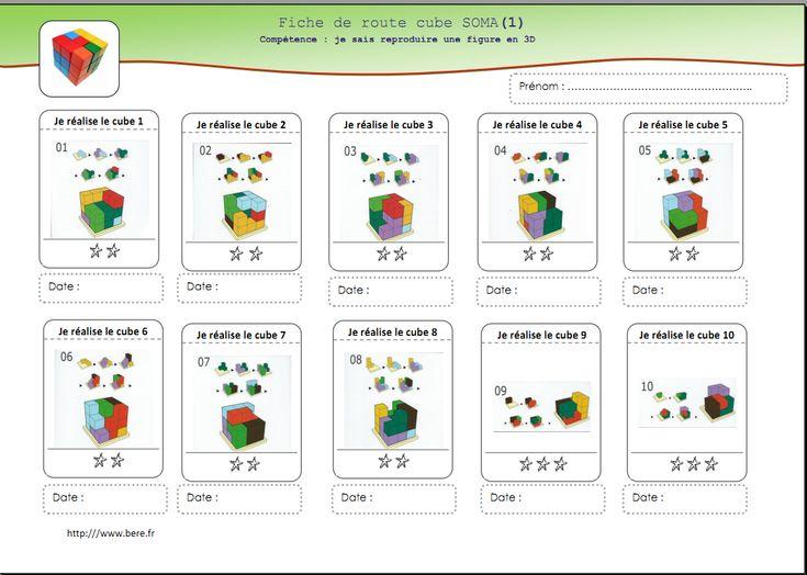 Fichas con desafíos para hacer con las piezas del cubo SOMA. También se pueden hacer con Policubos.  #Policubos #Unifix #Multicubos #geometría #matemáticas #lógica #soma