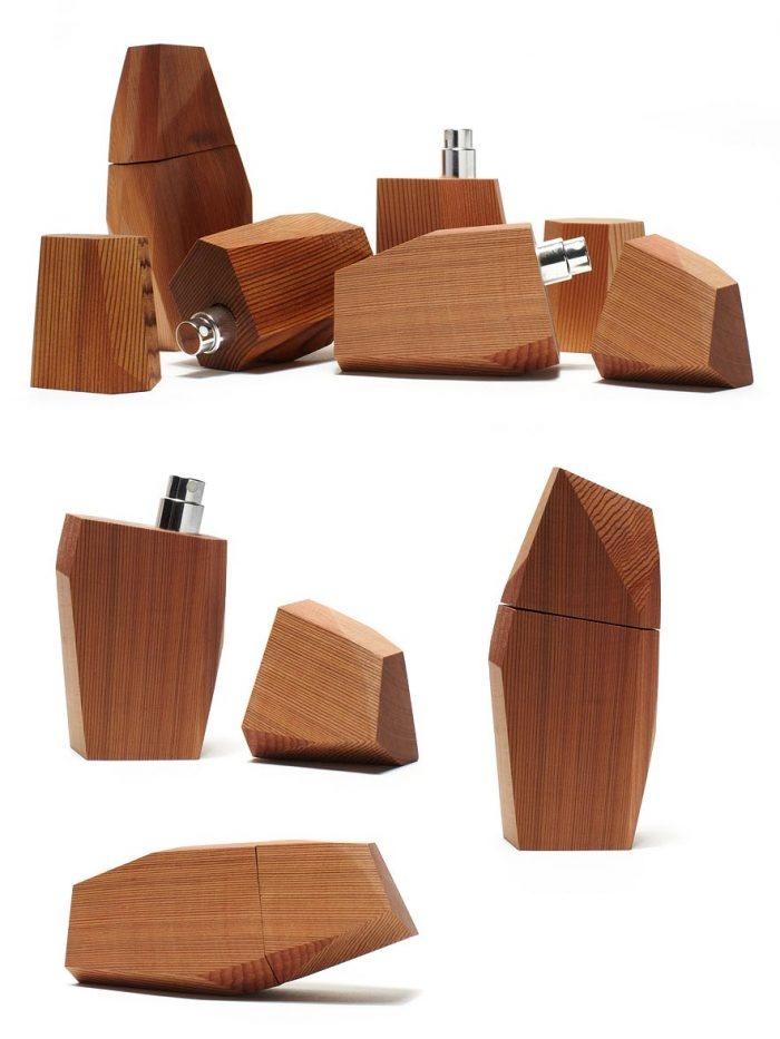 Wood bottles