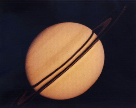 This image of Saturn and its rings was taken by Pioneer 11. In September 1979 Pioneer 11 tracked its course towards Saturn and caputred this unbelievable photograph. On September 30th, 1995 NASA halted Pioneer 11's daily operations.