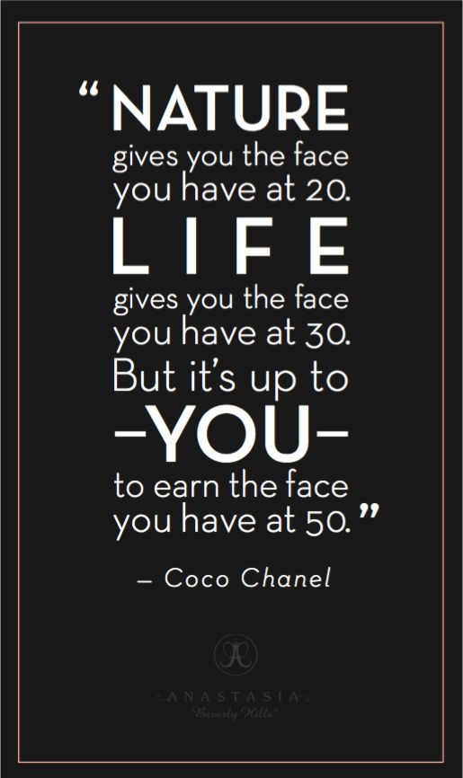 Beyond the Brow | Official Blog of Anastasia Beverly Hills - MONDAY MANTRA: COCO CHANEL ON AGING