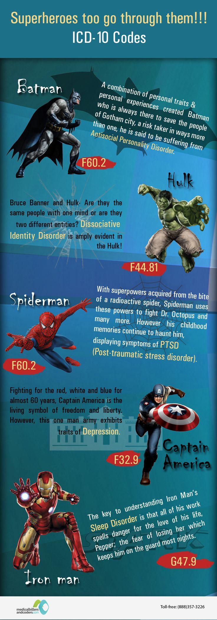 ICD-10 Codes - Superheroes go through them too :-)