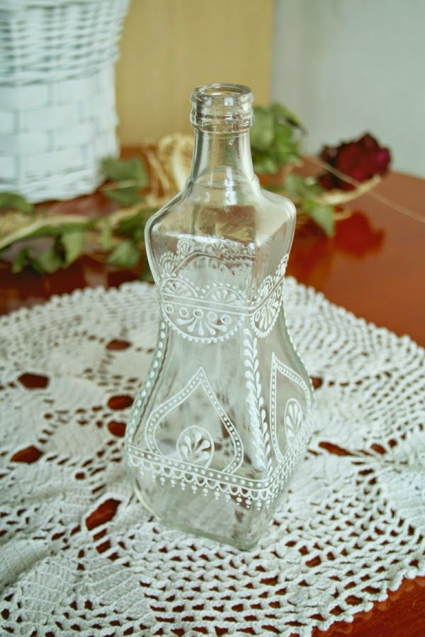 vintage lace bottle