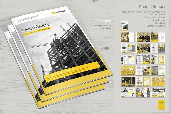 Annual Report by MrTemplater on @creativemarket