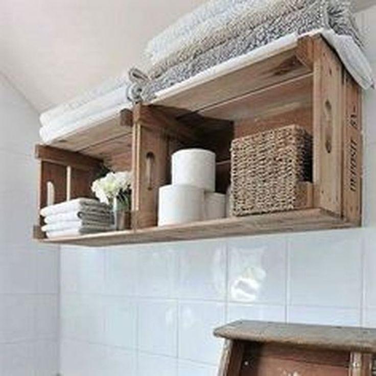 Rustic Country Bathroom Shelves Ideas 12