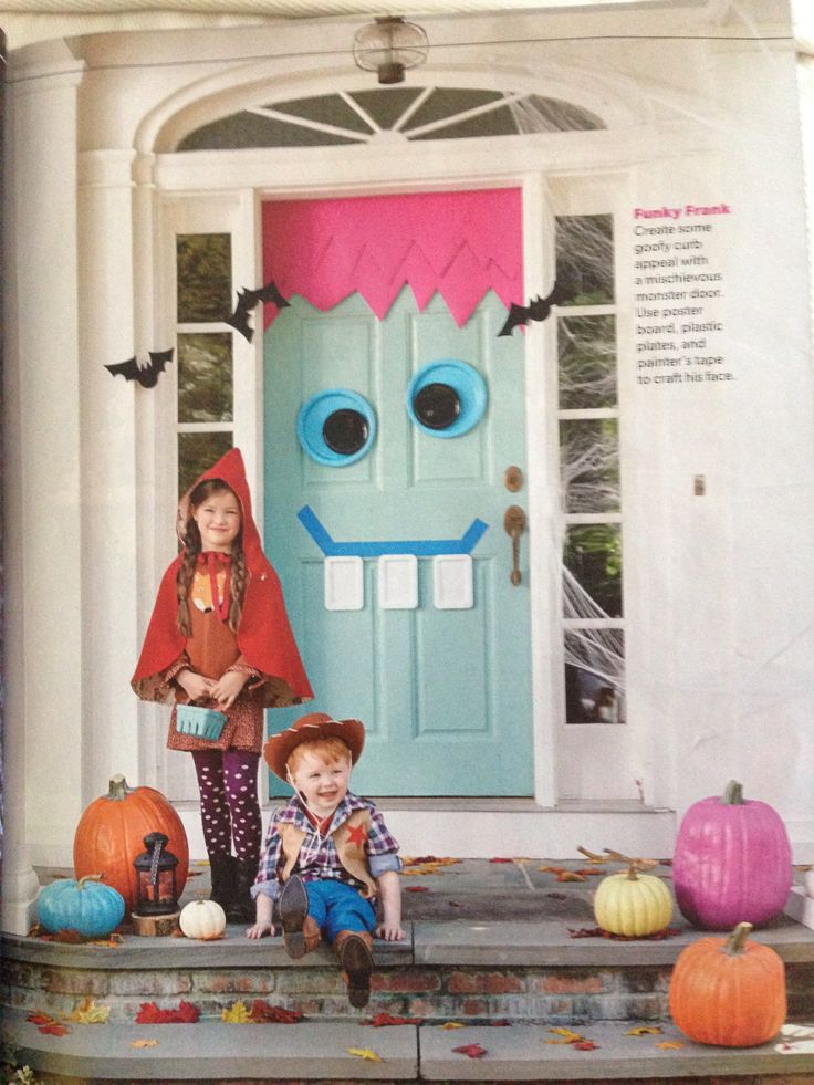 9 best Halloween door decorations images on Pinterest Halloween - halloween cute decorations