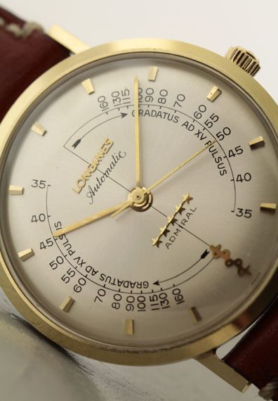 Longines Admiral pulsemeter YG/SS 1960's cal.342
