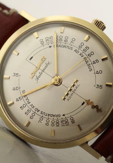 Longines Admiral pulsemeter YG/SS 1960's cal.342