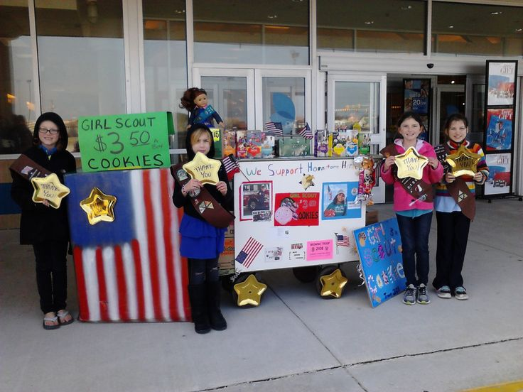 bling your booth to promote gift of caring girl scout