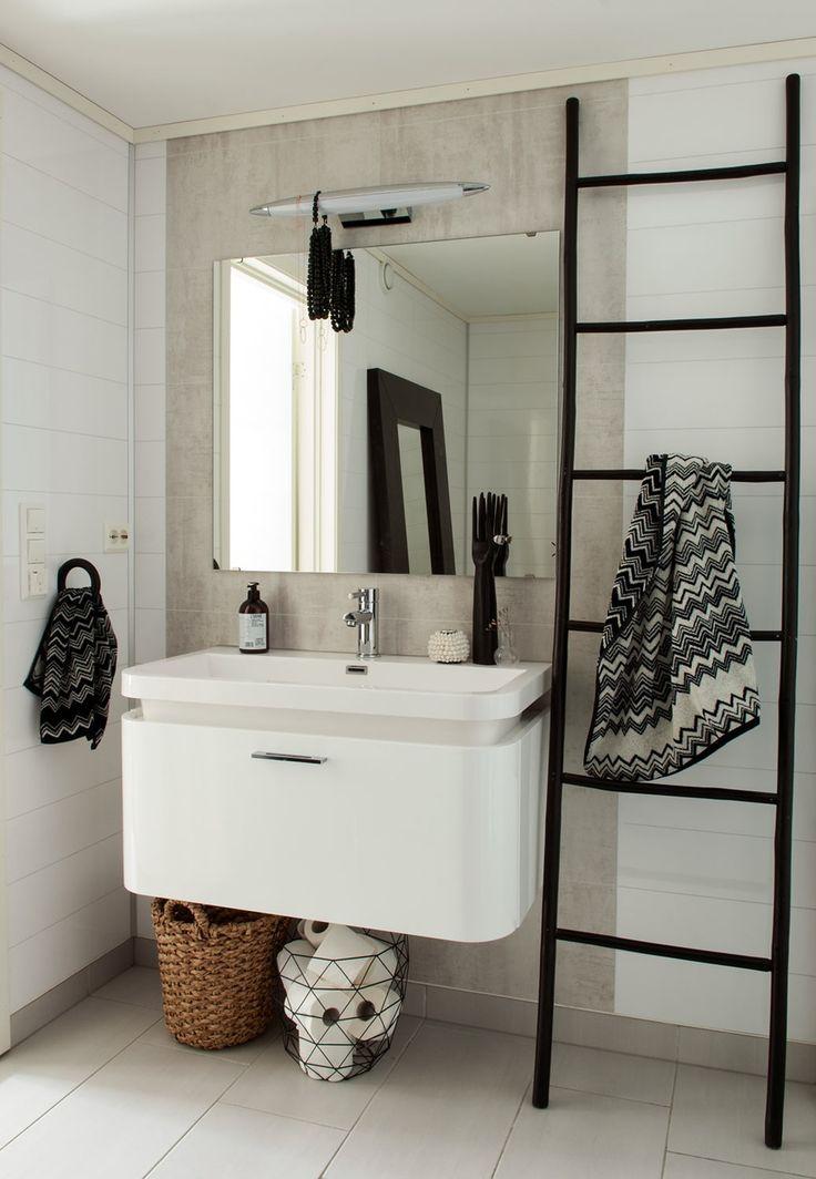 17 beste afbeeldingen over bathroom op pinterest badkamer inspiratie minimalistische - Badkamer retro chic ...