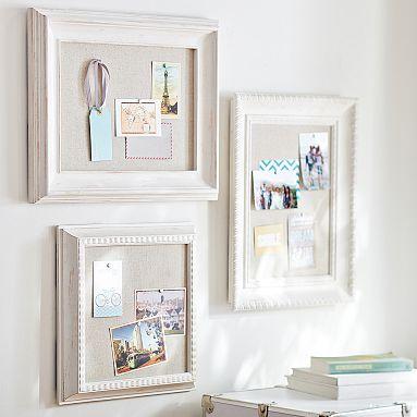 Wooden Eclectic Framed Pinboards for above the Madeline Storage Desk